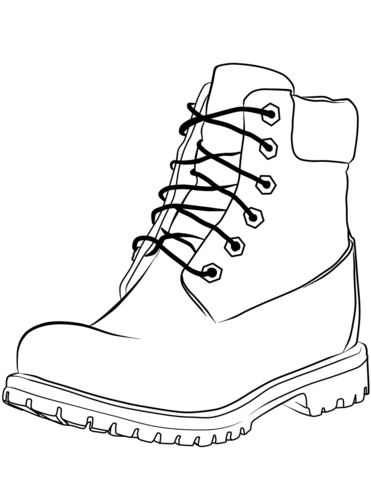 371x480 Work Boot Coloring Page Free Printable Coloring Pages