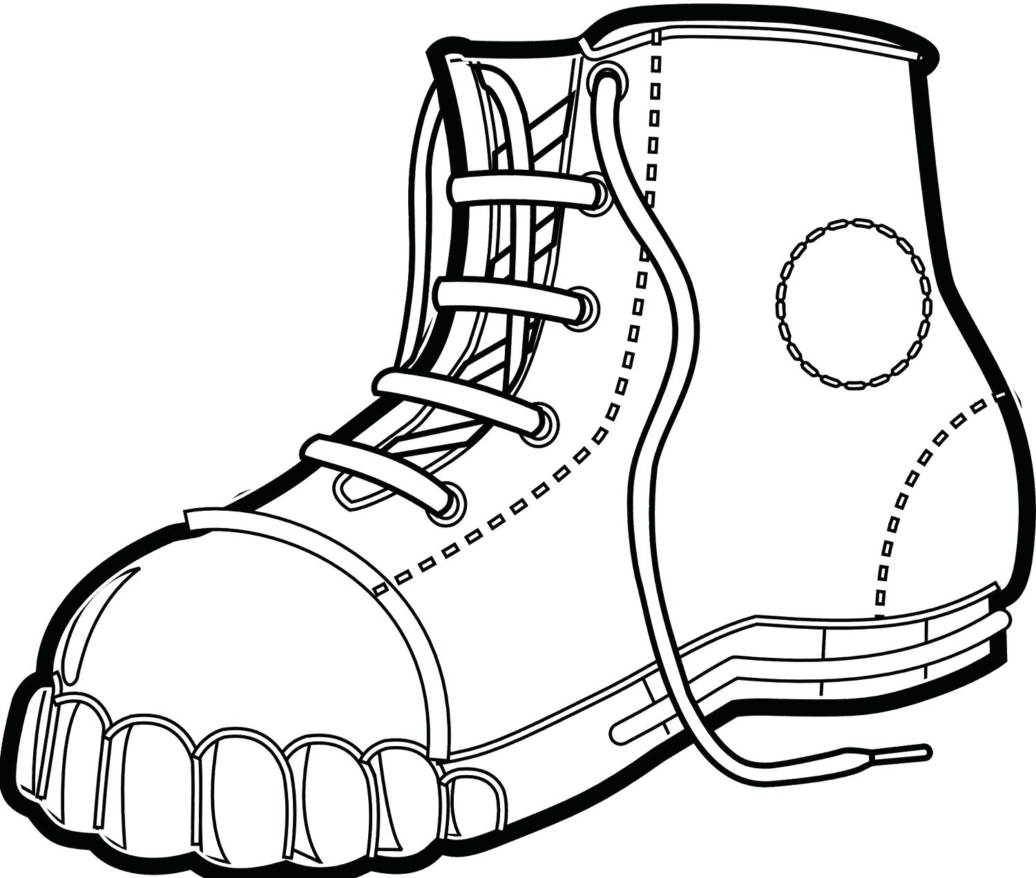 1500x1272 Coloring Coloring Boots Size Baby Book Hiking Boot Page Combat