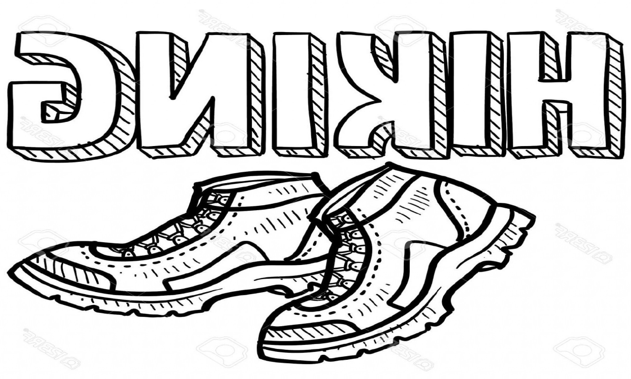 1280x768 Hiking Coloring Pages Best Boot Page Boots Clipart Black