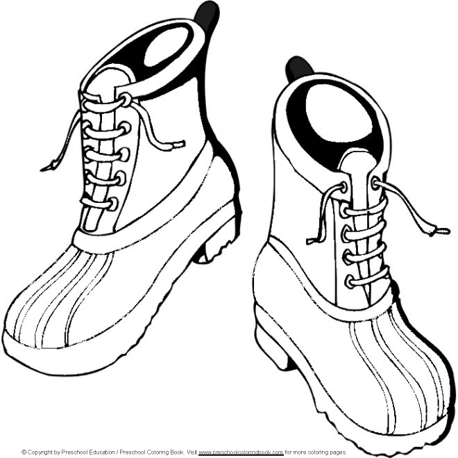 660x659 Hiking Shoes Coloring Pages Hiking Boots Clip Art Coloring Page