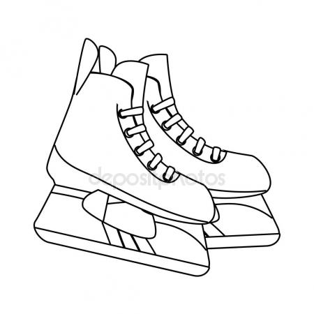 450x450 Hiking Boots Icon In Outline Style Isolated On White Background