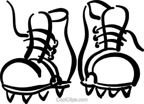 480x348 Hiking Boots Royalty Free Vector Clip Art Illustration Vc036995