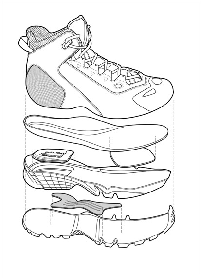 413x569 New Balance Shoe Sketches