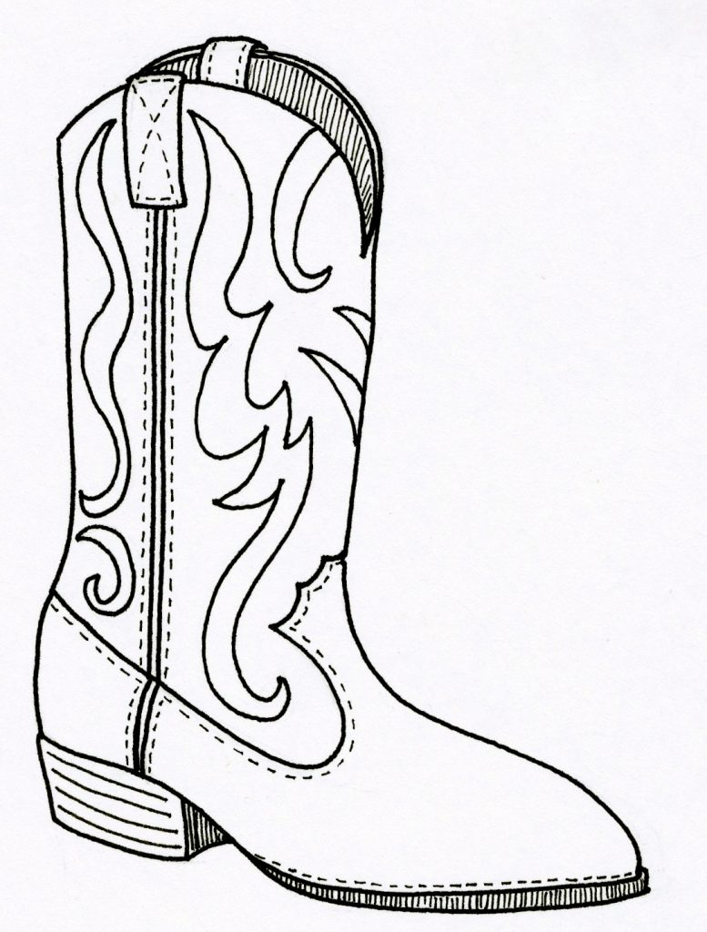 777x1024 Free Picture Of Cowboy Boots Coloring Pages For Kids Animals Rain