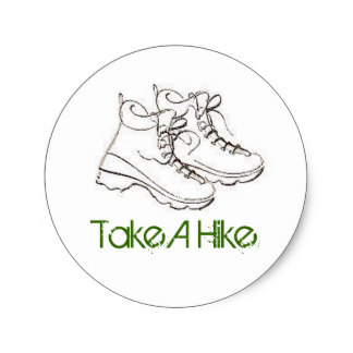 324x324 Hiking Boot Stickers Zazzle