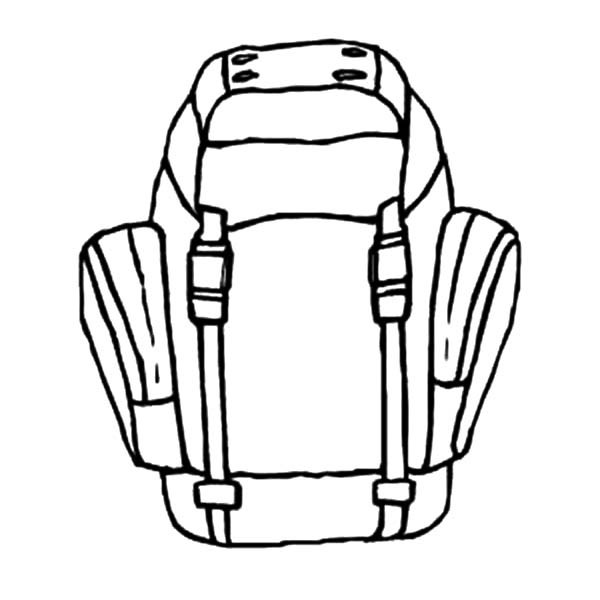 600x600 Ready To Hiking With Backpack Coloring Pages Best Place To Color