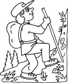 236x287 Summer Fun. Hiking With Reader Bee And Friends. Free Coloring Page