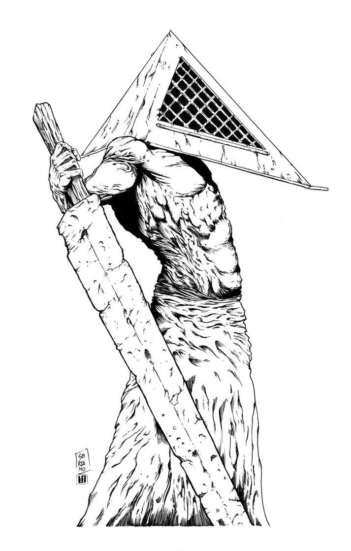713x1119 Pyramid Head (Silent Hill) Inks By Shoveke