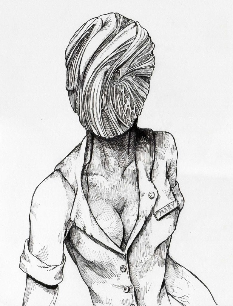 781x1022 Silent Hill Nurse By Thewalkingman