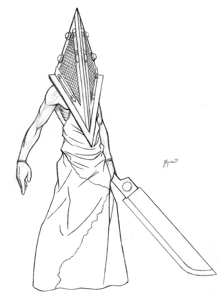 753x1061 Movie Pyramid Head Sketch By Jaybob On Silent Hill