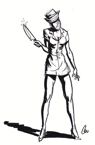 392x600 Geoff Wheeler Monday Life Drawing Silent Hill Nurse