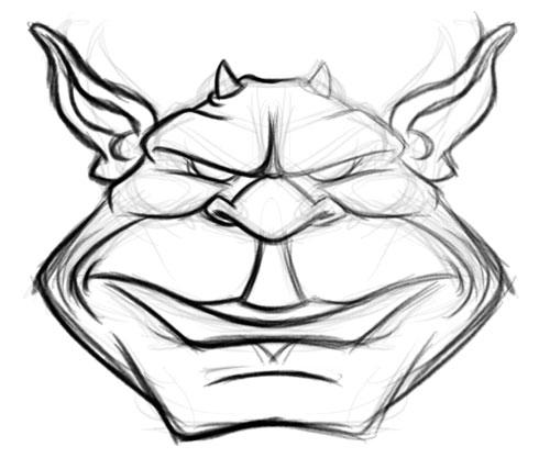 500x417 Green Goblin Cartoon Character Monster Drawing