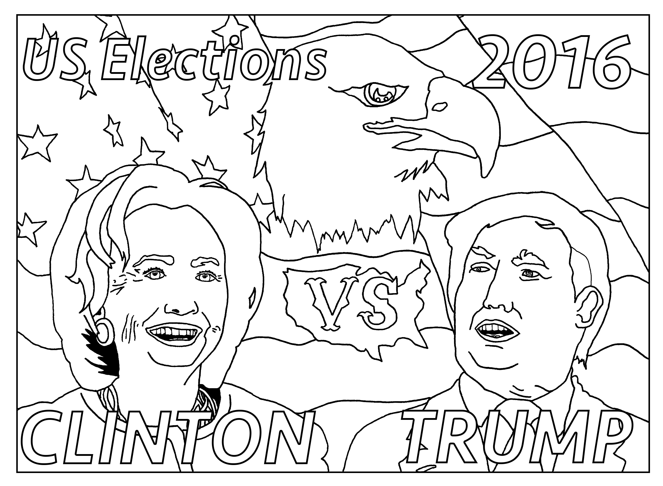 2240x1645 Free Coloring Page Coloring Adult Us Presidential Elections 2016