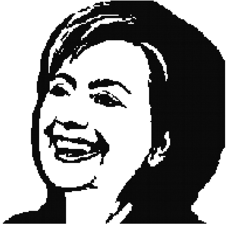1500x1463 Hillary Clinton Cross Stitch Pattern