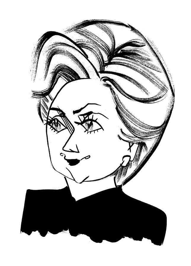 645x900 Hillary Clinton Drawing By Tom Bachtell