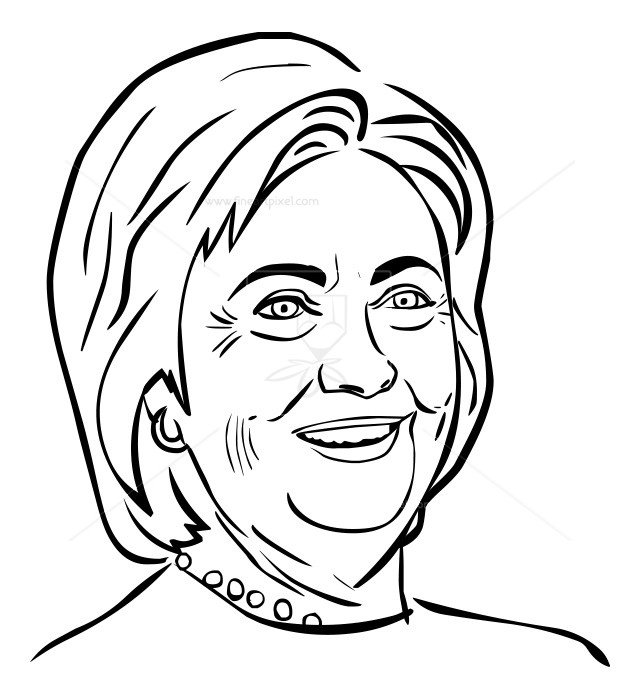 639x700 Hillary Clinton Outline Free Vectors, Illustrations, Graphics