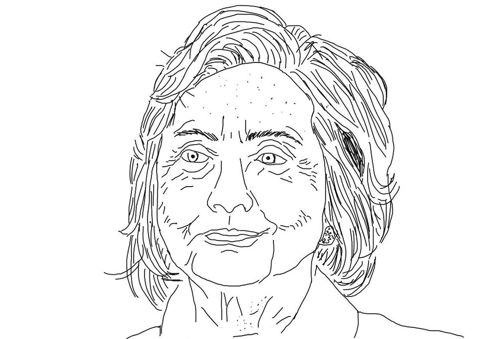 1024x694 Hillary Clinton Sketch By Cooperwallace