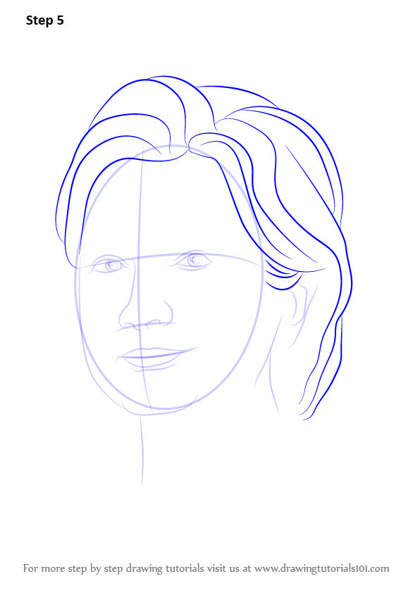 596x842 Learn How To Draw Hillary Clinton (Politicians) Step By Step