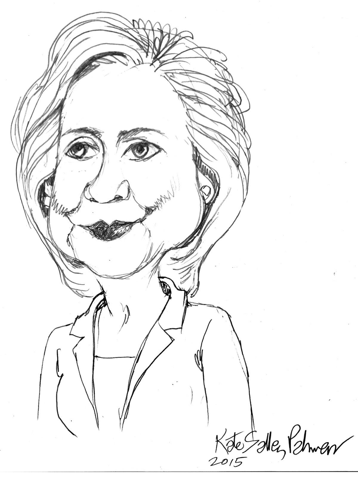 1200x1600 Pretty Is As Pretty Does Sketch Of Hillary Clinton