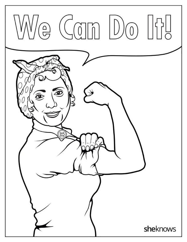 729x943 This Is The Hillary Clinton Colouring Book You'Ve Been Waiting