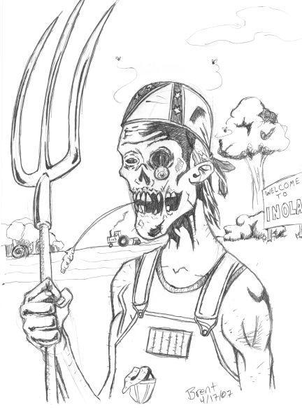 432x582 Hillbilly Zombie By Brenthibbard