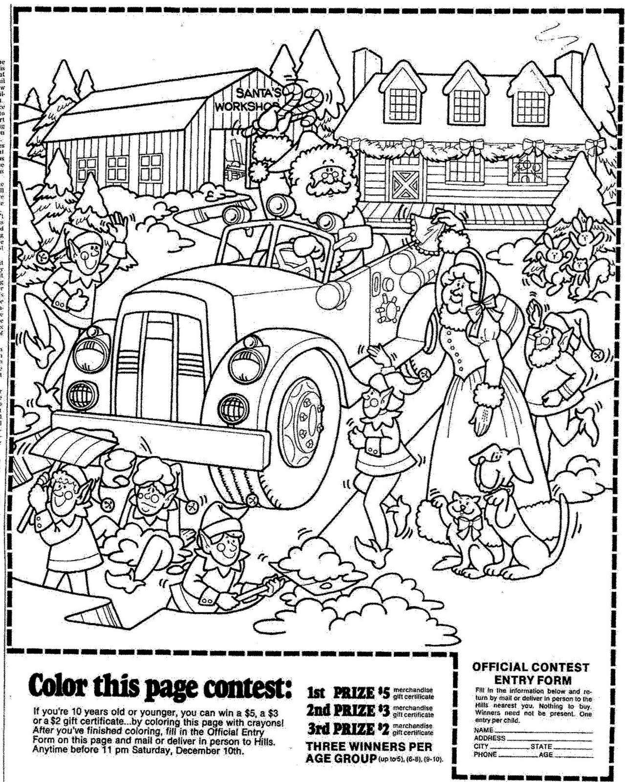 1279x1600 Mostly Paper Dolls Hill's Christmas Coloring Contest, 1977