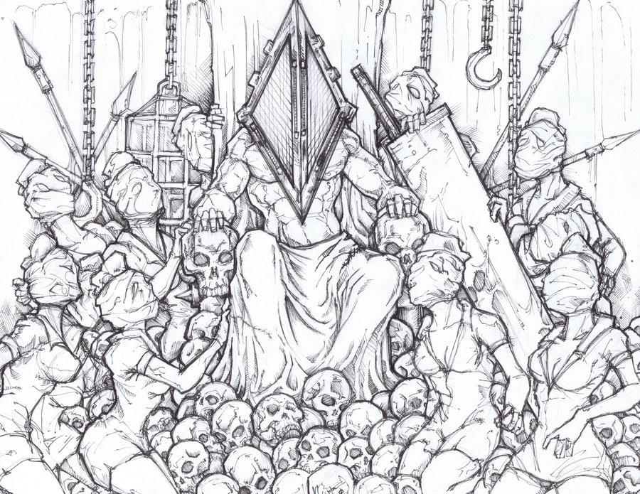 900x695 Pyramid Head King Of Silent Hill By Chrisozfulton
