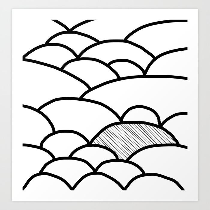 700x700 Rolling Hills Art Print By Marijamadi Society6
