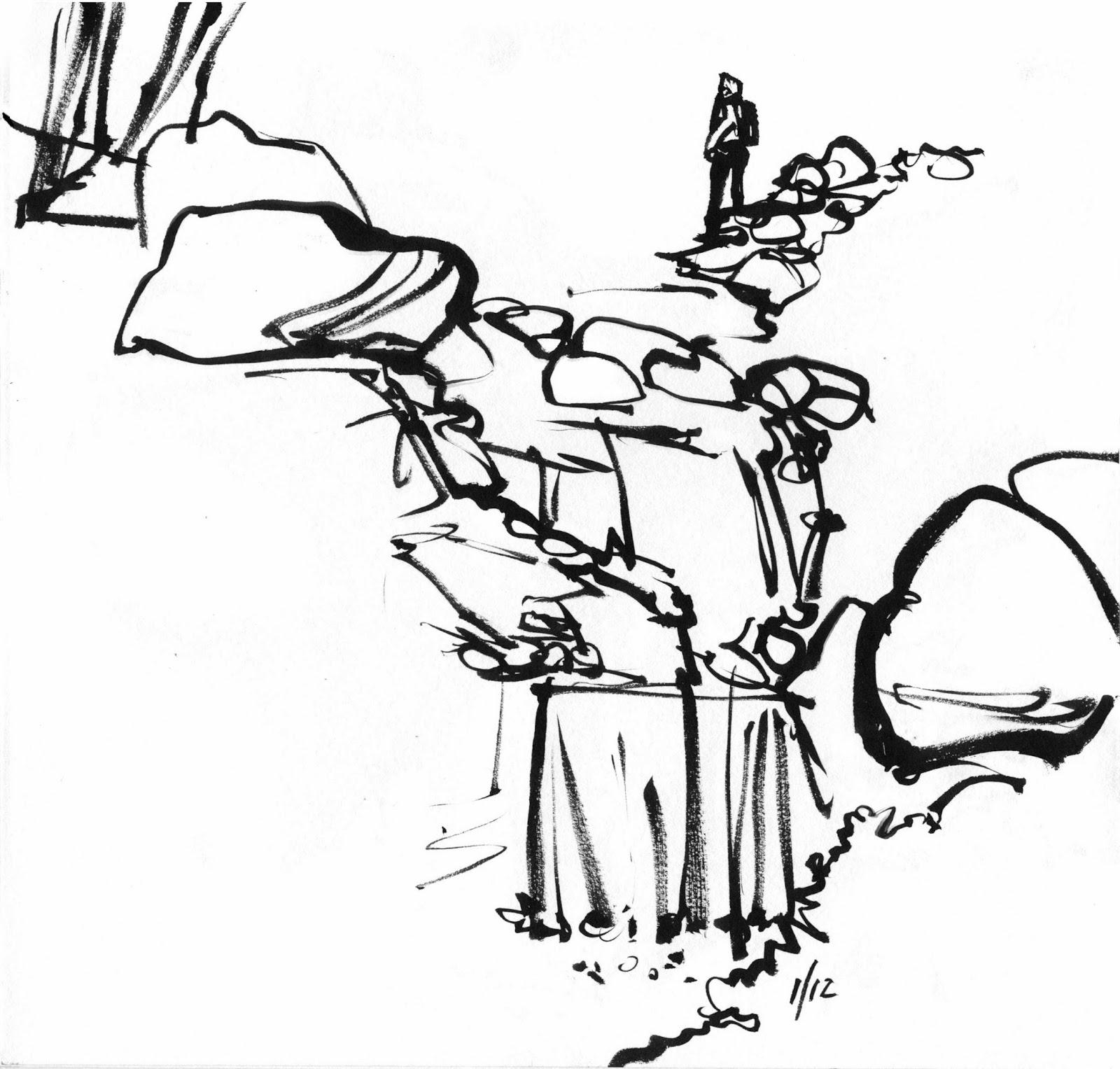 1600x1527 Drawing In An Urban Garden Urban Sketchers