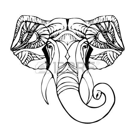 450x450 Hindu Elephant Head God Lord Ganesh. Hinduism. Paisley Background