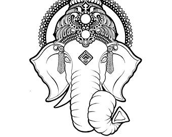 340x270 Ganesha And Mandala Tattoo