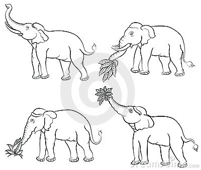 400x339 Drawn Elephant Thailand Elephant