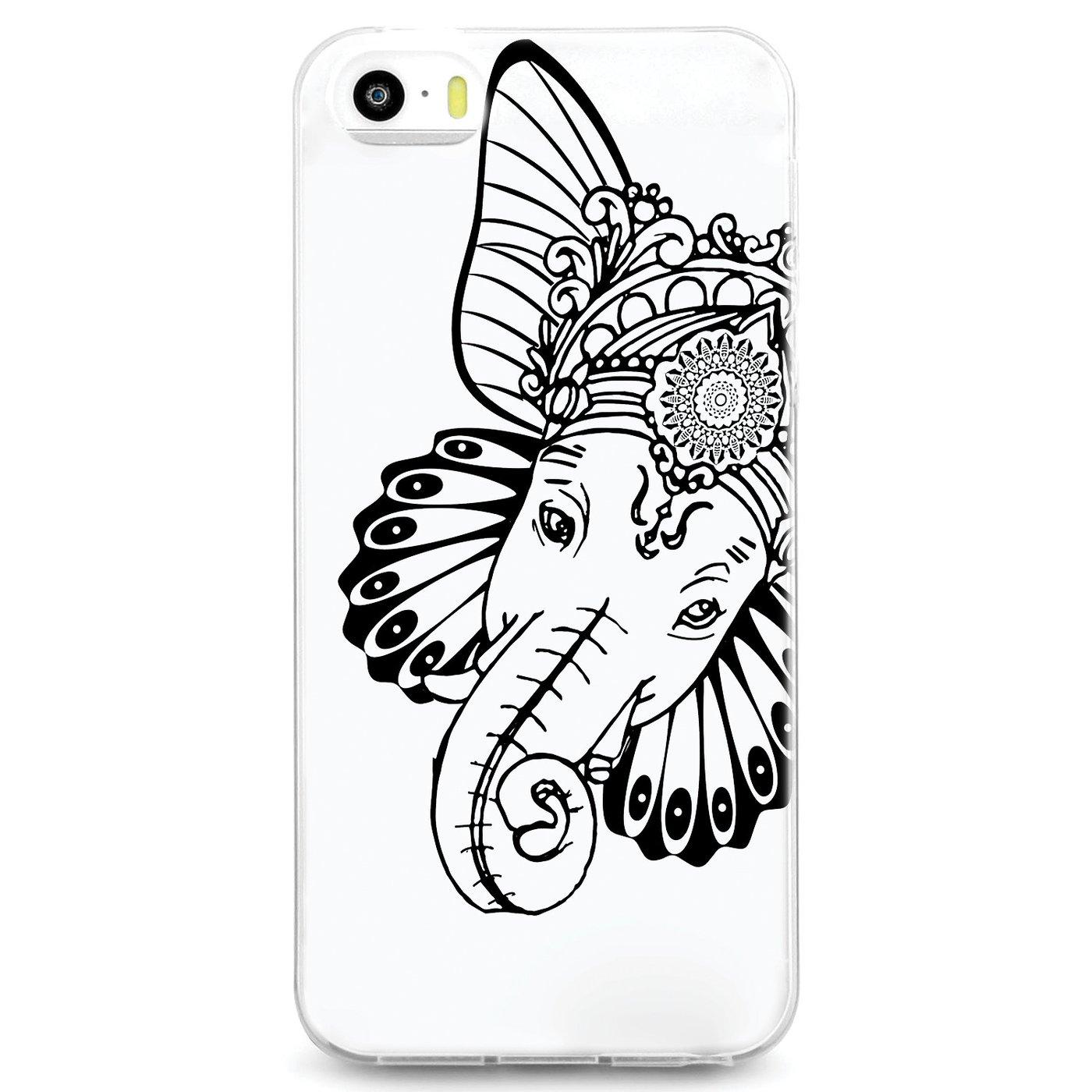 1400x1400 Uv Printed Tpu Case Spiritual Animal Hindu Elephant God Ganesha