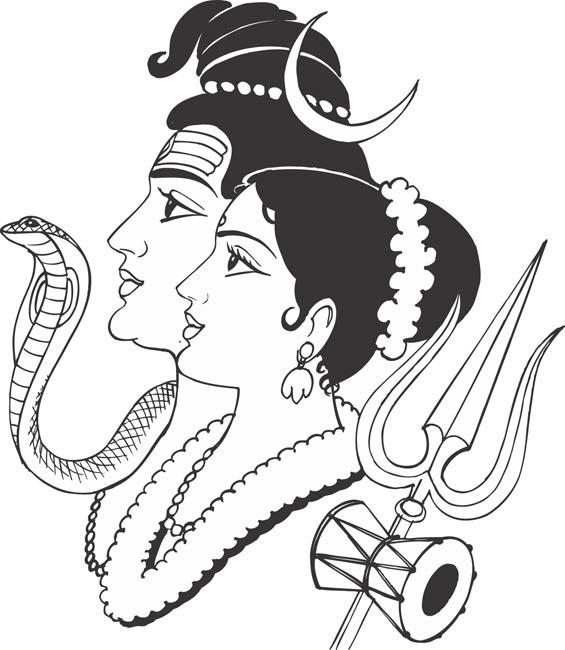 565x650 Shiva Hindu God Drawing Hindu Printable Coloring Pages Free