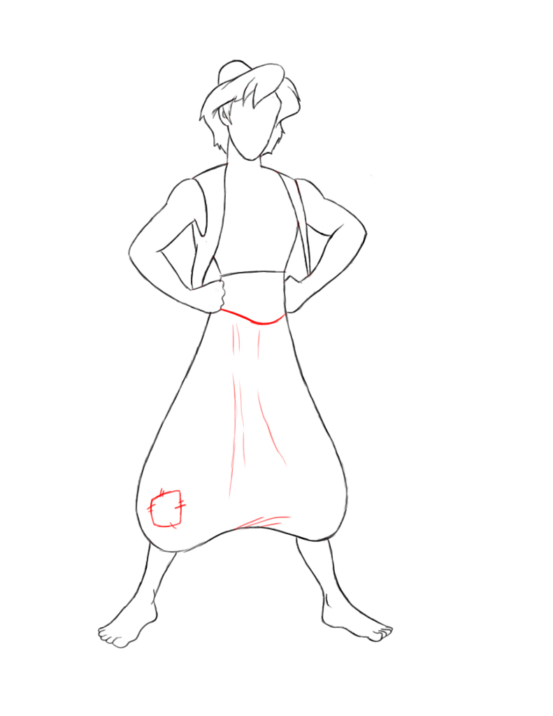 791x1024 How To Draw Aladdin