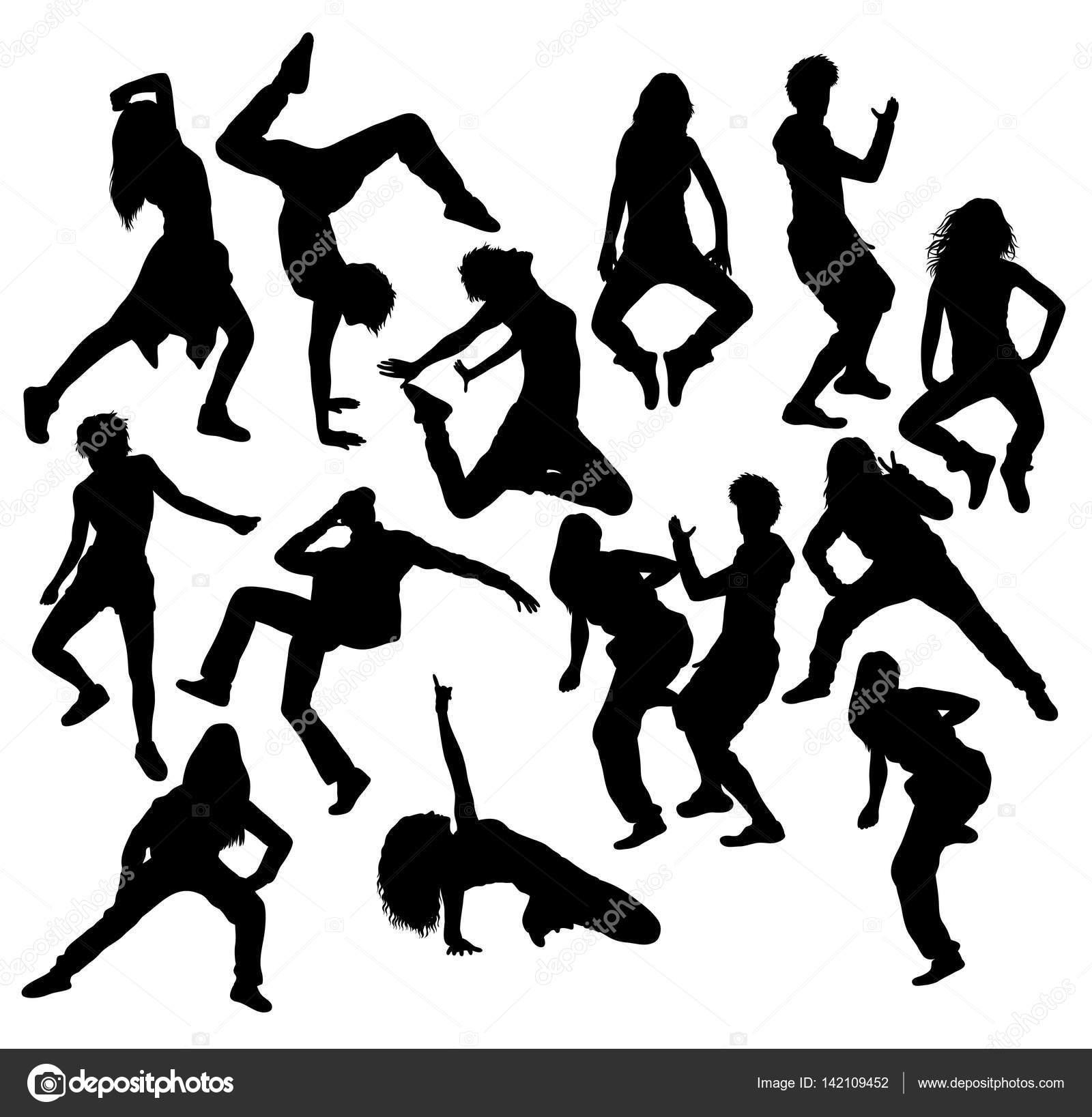 1600x1637 Hip Hop Dancer Silhouettes Stock Vector Sumbajimartinus