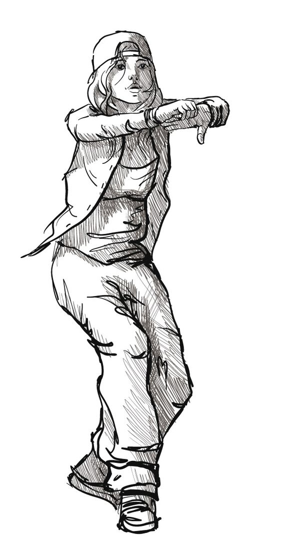 564x1110 Hip Hop Dancer Sketch Hip Hop ~ Dance Hip Hop