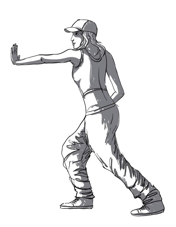 600x771 Dancing Figures Vector Material Characters Hip Hop Dance Free
