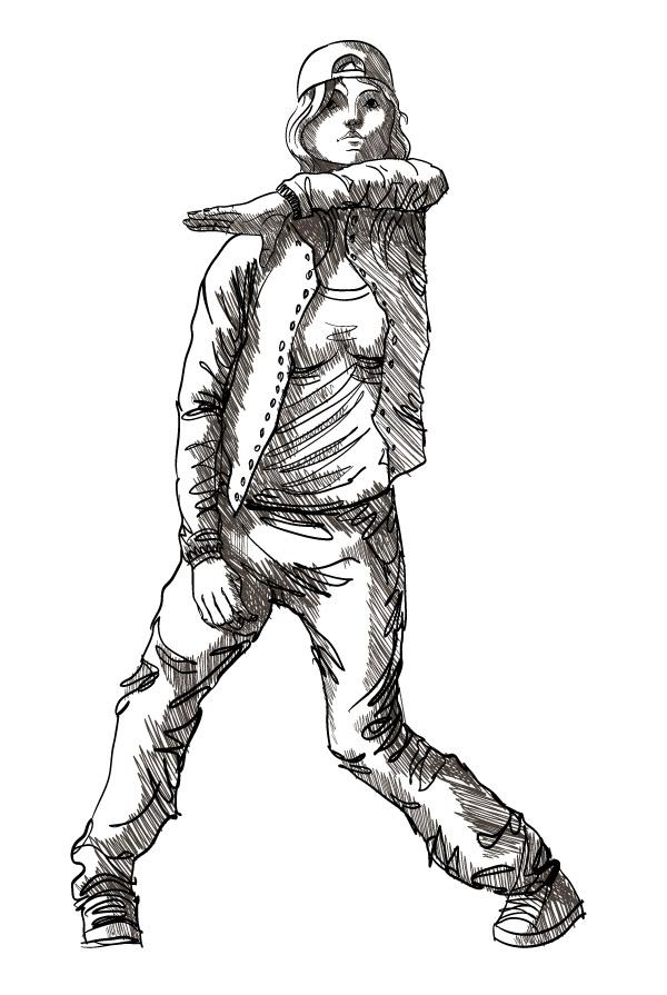 600x895 Drawn Dancer Hip Hop