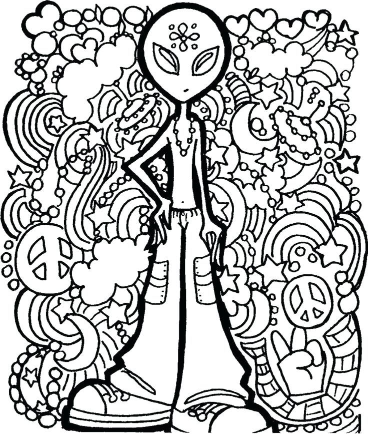 736x867 Hippie Coloring Pages Hippie Alphabet Packs Candy Hippie Coloring