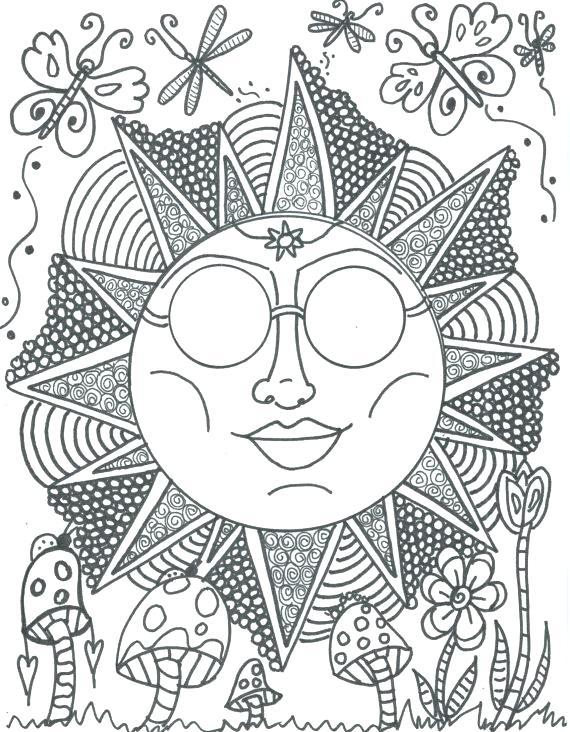 570x732 Hippie Coloring Pages Hippie Coloring Pages In Addition To Hippie