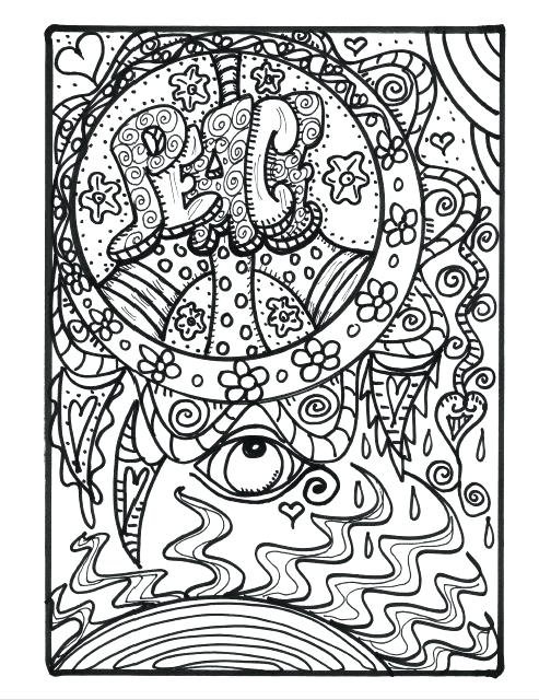 493x640 hippy coloring pages psychedelic weed coloring pages hippie van
