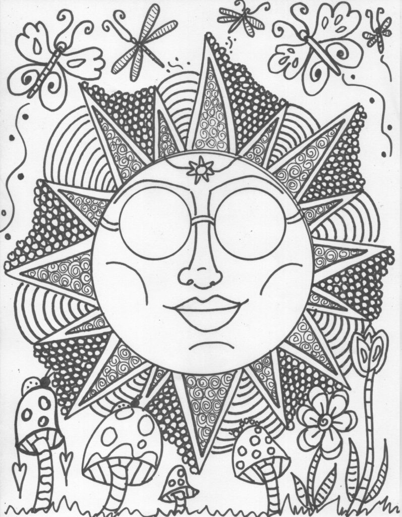 Hippie Drawing Ideas At Getdrawingscom Free For Personal Use - Hippie-coloring-pages