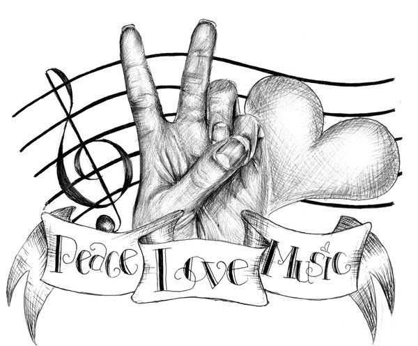 600x496 Music Note Love Artwork Peace, Love And Music By ~chika33