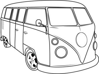Hippie Van Drawing