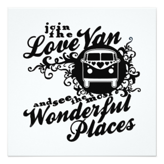 324x324 Hippie Van Invitations Amp Announcements Zazzle
