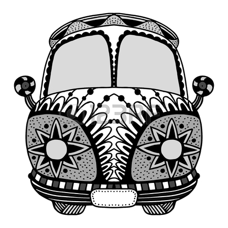 450x450 Hippie Vintage Car A Mini Van. Made By Trace From Sketch