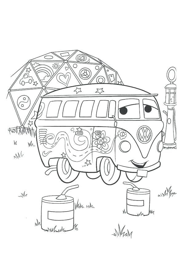 595x842 Lovely Coloring Pages Van Print Hippie T Page Whimsical Art