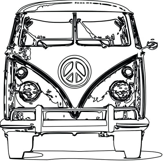 564x558 Vw Bus Coloring Page Photo Of For Line Drawing Vw Bus Coloring