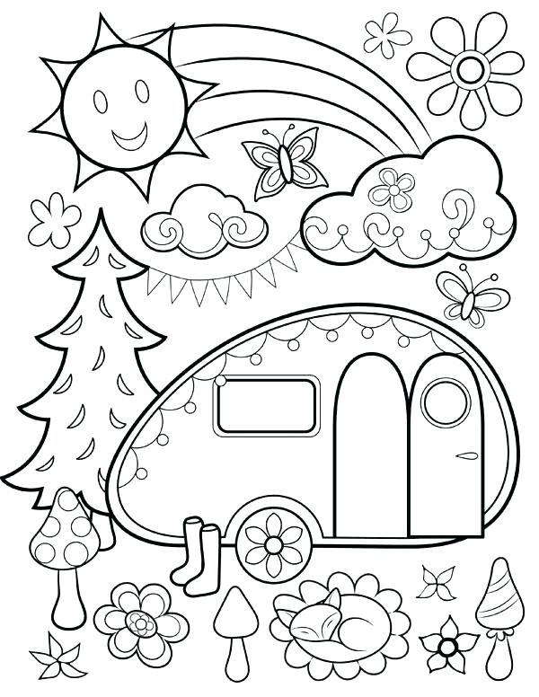 600x776 Hippie Coloring Pages Hippie Coloring Pages Free Happy Campers
